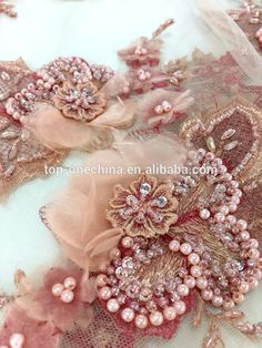 2017 spring 3D flower lace fabric / beaded mesh lace fabric embroidery wedding lace fabric wholesale, View beaded embroidery bridal laces fabrics, top-one Product Details from Guangzhou Top-One Import & Export Co., Ltd. on Alibaba.com