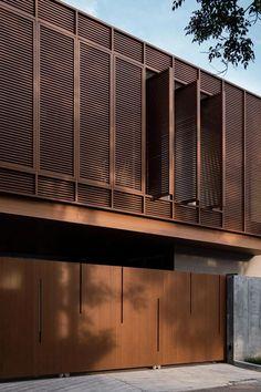 Architecture Jobs, Architecture Concept Diagram, Pavilion Architecture, Facade Design, House Design, Gable House, Best Architects, Concrete Wood, Building Facade