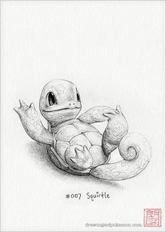 Squirtle  5 x 7 print by DrawingsofHeroes on Etsy, $9.00