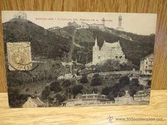 BARCELONA. PANORAMA DEL FUNICULAR AL TIBIDABO. CIRCULADA EN 1921.