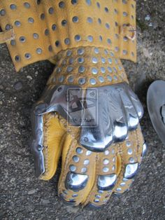 Wisby #3 gauntlets in spring steel by BrianBrownArmoury.deviantart.com on…