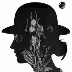"Portrait inspired by ""Souvenir du Monde Flottant, Iris Cendré (Goodsir)"", 2015 by Jean-Philippe Roubaud. Photo by Mr R #jeanphilipperoubaud #naomigoodsirparfums #naomigoodsir"