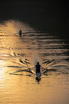 I have a friend who rows with an 'over 50' crew...she often speaks of being out on the water at 5:00AM!  Now that's commitment!!