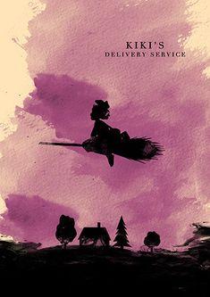 Kiki's Delivery Service Hayao Miyazaki Minimalist by moonposter