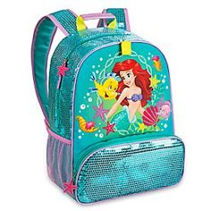 Disney Ariel Backpack | Disney StoreAriel Backpack - The Little Mermaid swims among her friends while waves of aqua sequins lap all around. Perfect for school and adventures galore, our Ariel Backpack keeps your little one equipped with essentials and more.