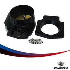 72.55$  Watch now - http://alinil.worldwells.pw/go.php?t=32753615921 - PQY RACING-92mm Throttle Body +Manifold Adapter Plate for LS LS2 LS3 LS6 LS7 LSX BLACK PQY6937+TBS41