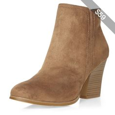 Dorothy Perkins Tan 'Alice' ankle boots