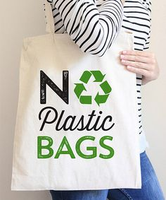 Loving this 'No Plastic Bags' Tote on #zulily! #zulilyfinds