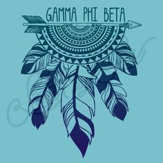 Sorority Social Gamma Phi Beta Tribal Feather Dreamcatcher Arrow South By Sea
