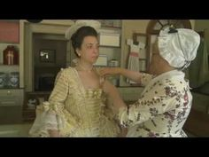 How to Dress 18th Century- How To Put On 18th Century Front Lacing Stays - YouTube