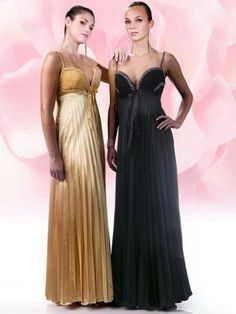 2012 Style A-line Spaghetti Straps  Bowknot Sleeveless Floor-length Chiffon Prom Dress / Evening Dress