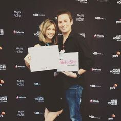 Me and my @tjpan at @unwomenla 's #HeForShe event last night at @youtube_studio_official ! #EqualRights #EqualPay #womeninbusiness #womenruntheworld