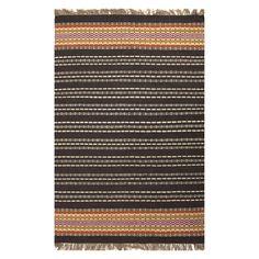 Jaipur Java Flat-Weave Tunic Area Rug - Gray - Area Rugs at Hayneedle