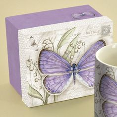 Lavender Butterfly Coffee Mug
