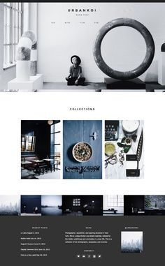 The moody color palette of Urban Koi's new site is amazing. Running on Station Seven's Industry theme. #webdesign #wordpress