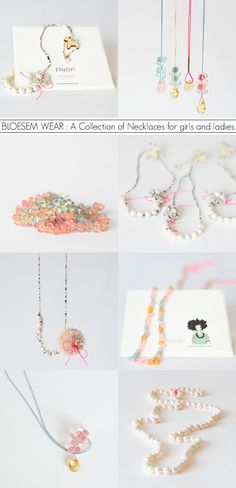 Playful summery jewellery by Irene Hoofs for Bloesem Wear - 'Bloesem Brings Gems and Pearls: A Collection of Necklaces for girls and ladies.'