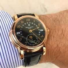 """""""At Madison Time! One of the greatest watches ever created! The Patek philippe #5016 minute repeater tourbillon!!in Rose gold/Black dial , a rare…"""""""
