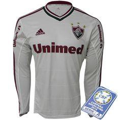 0d382be357 Camisa Fluminense M L II 2013 - 2014 Adidas Branca