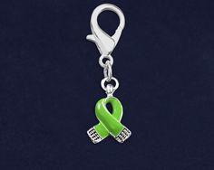 Small Green Ribbon Hanging Charm (RETAIL)