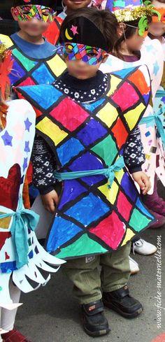 Maternelle : thème du carnaval. Arlequin