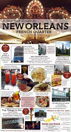 Shortcut guide to the French Quarter in New Orleans LouisianaYou can find Louisiana and more on our website.Shortcut guide to the French Quarter in New Orleans Louisiana New Orleans Travel Guide, New Orleans Vacation, New Orleans Hotels, Visit New Orleans, New Orleans Louisiana, Trip To New Orleans, Weekend In New Orleans, New Orleans History, New Orleans Best Restaurants