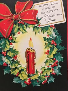 A personal favorite from my Etsy shop https://www.etsy.com/listing/473885041/vintage-christmas-card-for-someone-in