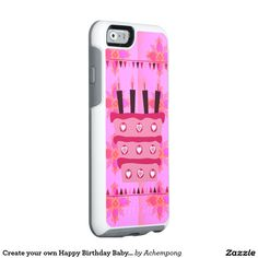 Create your own Happy Birthday Baby Pink Cake art #lovely #design #Achempong #Zazzle #Online #Shopping #Store #Gifts - #Shirts, #Posters, #Art, & #more #Gift #Ideas
