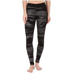 PUMA Printed Leggings ($33) ❤ liked on Polyvore featuring pants, leggings, black, cotton pants, sport pants, sports pants, puma pants and cuffed pants
