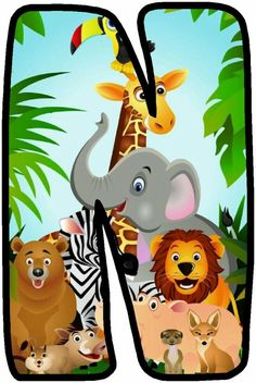 Safari Theme Birthday, Zoo Birthday, Animal Birthday, Zoo Party Themes, Birthday Party Themes, Jungle Party, Safari Party, Alfabeto Animal, Alphabet