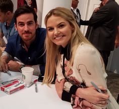 Jennifer Morrison and Colin O'Donoghue at San Diego Comic Con Autograph signing 2016 - 23 July 2016