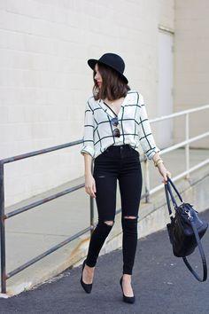 topshop-jamie-jeans-window-pane-shirt-black-wide-brim-hat