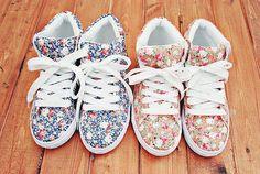 floral sneakers. cute.