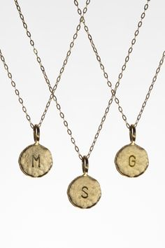 Show Pony Boutique - Charlene K - Initial Pendant Necklace in 14K Gold Vermeil, $65.00 (http://www.showponyboutique.com/charlene-k-initial-pendant-necklace-in-14k-gold-vermeil.html)