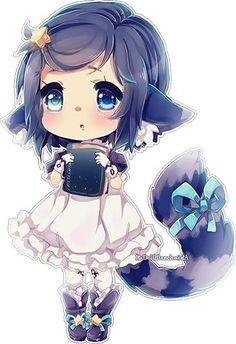 Chibi - Personnage manga fille ...