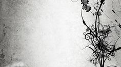 images of monochrome | Papel de Parede Fundo Branco Com Flores Pretas Wallpaper para Download ...