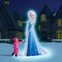 The 8' Inflatable Elsa is expertly printed on polyester with three illuminating LED lights. Six stakes and four tethers secure her to the ground.