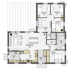 Prio 141 - Eksjöhus Philippines House Design, Philippine Houses, Cottage Plan, House Layouts, Future House, House Plans, New Homes, Floor Plans, Construction