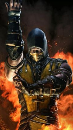 Mezco Toyz Mortal Kombat X Scorpion Figure Toys Games Mortal Kombat X Scorpion, Sub Zero Mortal Kombat, Mortal Kombat Art, Mortal Kombat X Wallpapers, Dragon Ball, Gaming Wallpapers, King Of Fighters, Fighting Games, Street Fighter