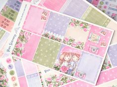 This romantic and refreshing complete planner sticker kit will look amazing in your life planner!