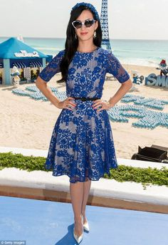 Katy Perry in her Smurfy outfit. <3 Shop this look at @SPARKTREND, click the image to see! #outfits