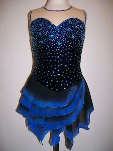 pretty blue skating dress