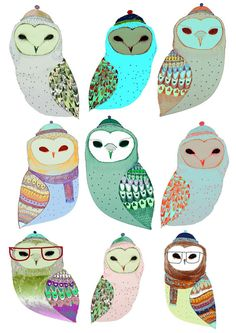 Here Come The Owls limited edition art print by by AshleyPercival, $50.00