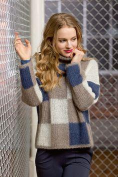 Catalogue Lang Yarns - Urban Fatto A Mano Knit Cardigan Pattern, Sweater Knitting Patterns, Knitting Designs, Knitting Socks, Knitting Wool, Pullover Mode, Lang Yarns, Sweater Fashion, Pulls