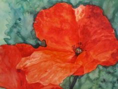 Print Red Poppies  Watercolor by RachelLynnHeisey on Etsy, $10.00
