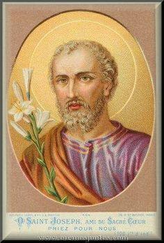 San José,  amigo del Sagrado Corazón de Jesús.