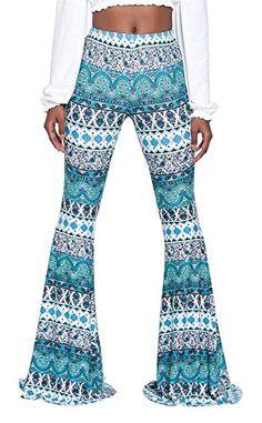 Ladies Cute Ethnic Print Wide Leg Flare Palazzo Lounge Pa...