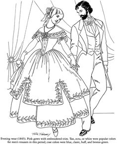 VICTORIAN FASHIONS Welcome to Dover Publications Coloring Book by: Tom Tierney Coloring Page 2 of 4