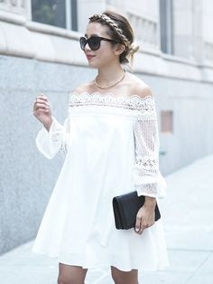 It's all about the sleeves on this lace off the sh