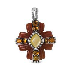 Carolyn Pollack Jewelry | Glorieta Multi-Gemstone Cross Pendant Enhancer