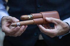 Ghurka Leather Cigar Carrying Case - He Spoke Style